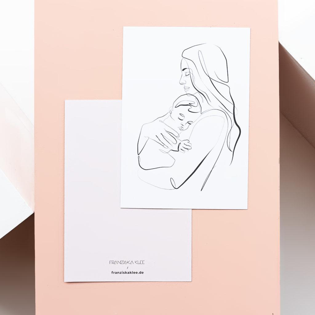 Grußkarte mit dem Motiv BABY