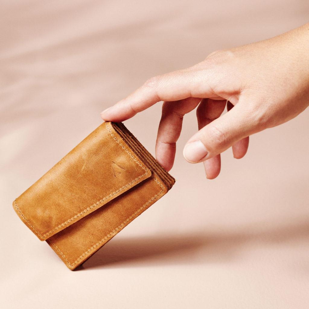 Portemonnaie Eno in cognac geölt aus nachhaltigem Naturleder