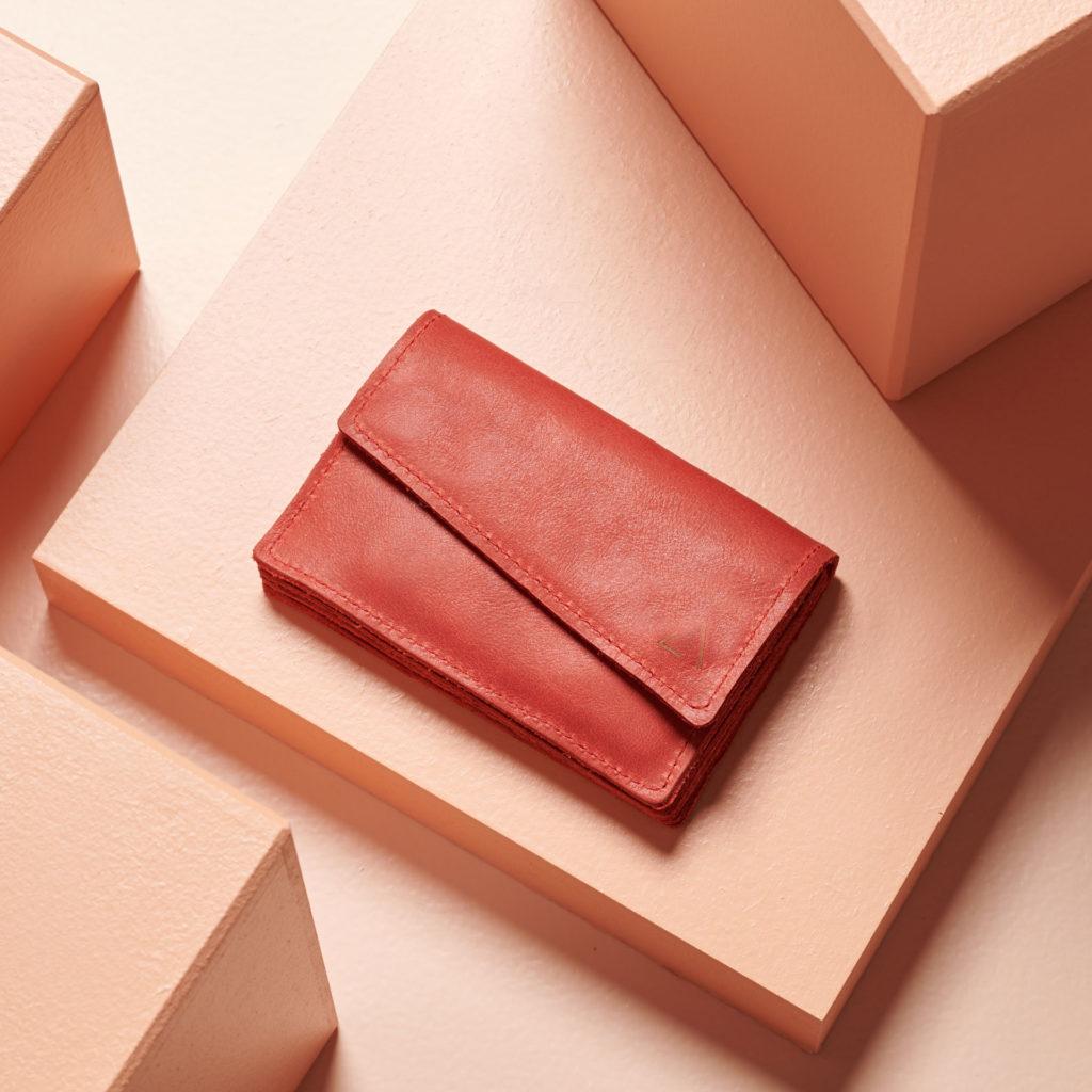 Portemonnaie Eno in rot aus nachhaltigem Naturleder