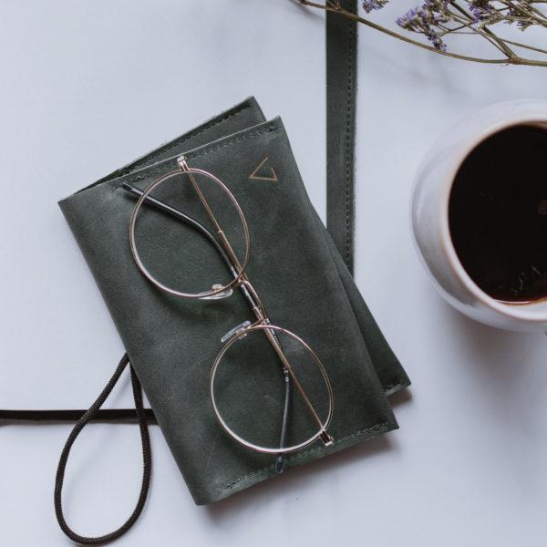 Portemonnaie OLI LARGE in Steingrau aus nachhaltigem Naturleder