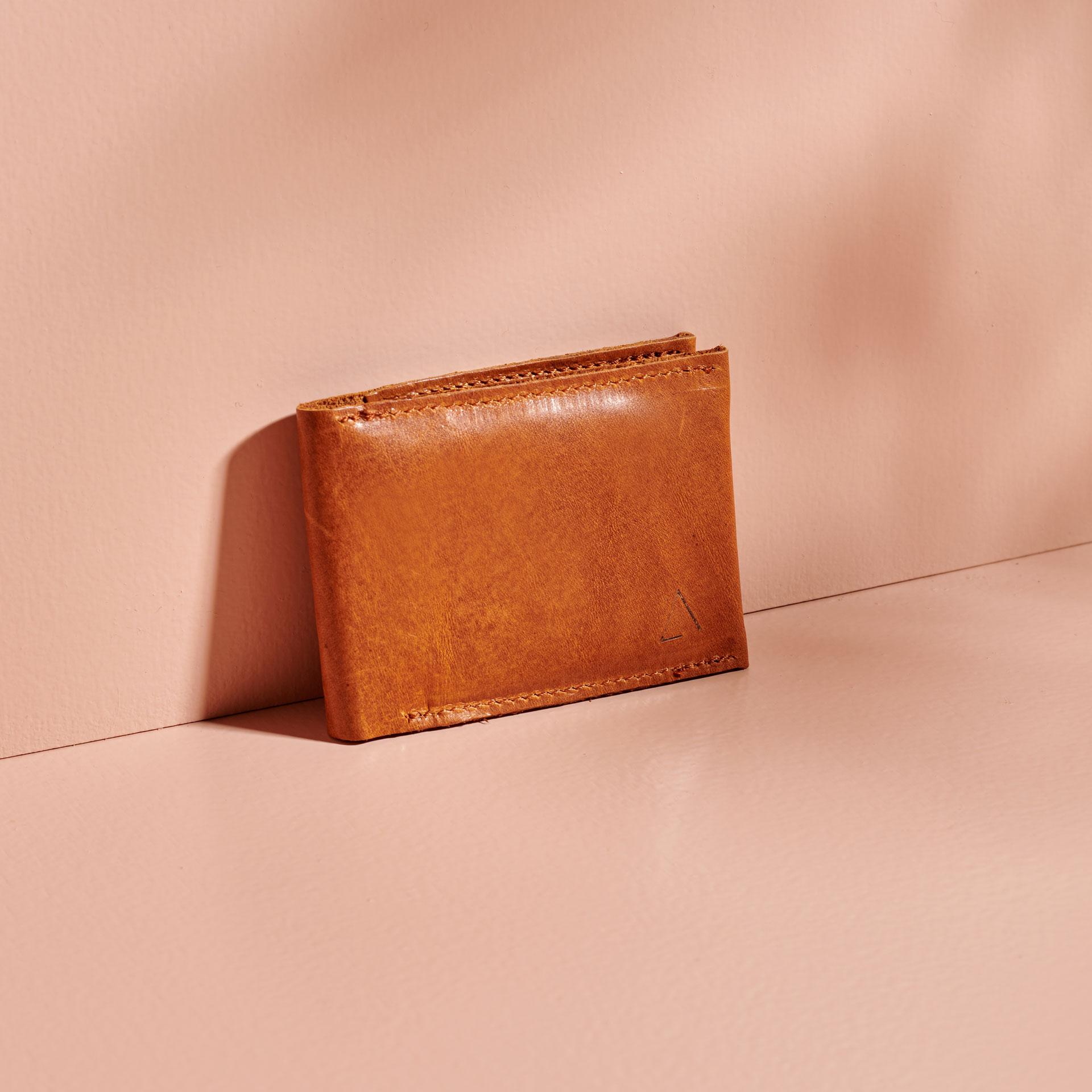Portemonnaie OLI SMALL cognac geölt aus nachhaltigem Naturleder