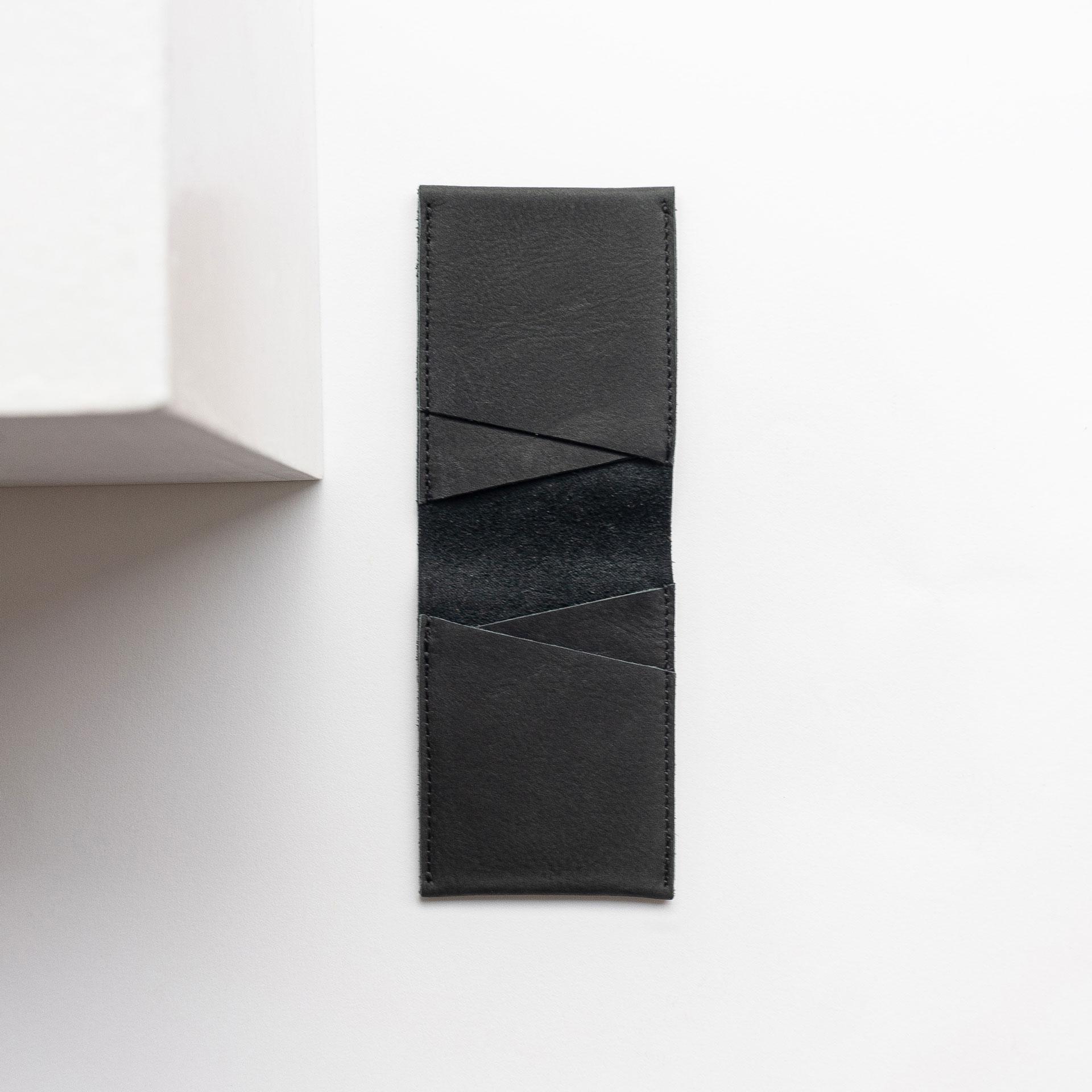 portemonnaie OLI Small in Kohle aus Naturleder