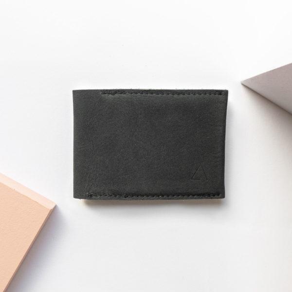 Minimalistisches Portemonnaie OLI SMALL aus Naturleder in Kohle