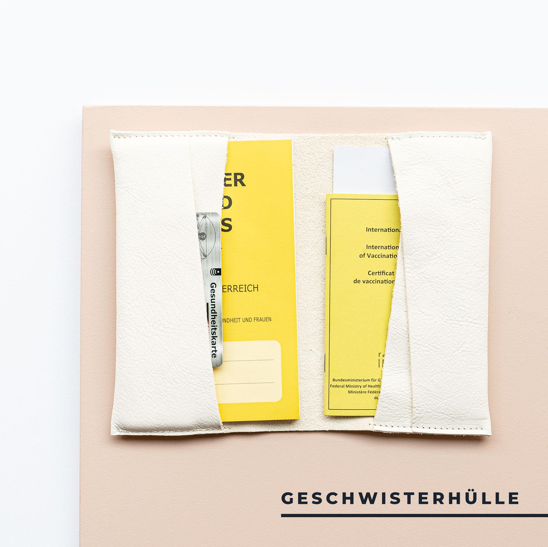 Mutter-Kind-Pass-Huelle-Oesterreich-Naturleder-Franziska-Klee-creme-geschwisterhuelle